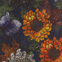 Floral Pattern Wool Scarf, ${color}