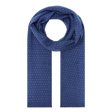 Pin Dot Print Wool Scarf, ${color}