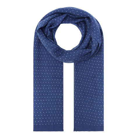Pin Dot Print Wool Scarf, ${color}