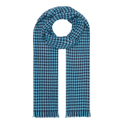 Houndstooth Merino Wool Scarf, ${color}