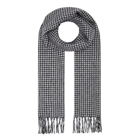 Houndstooth Wool Scarf, ${color}
