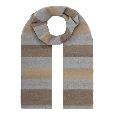Wide Stripe Scarf, ${color}
