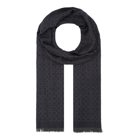 Interlocked Gancini Scarf, ${color}