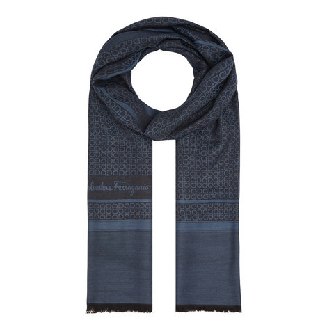 Patterned Wool Mix Scarf, ${color}