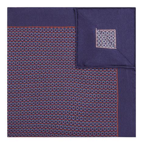 Gancio Print Pocket Square, ${color}