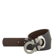 Hickory Grained Leather Belt