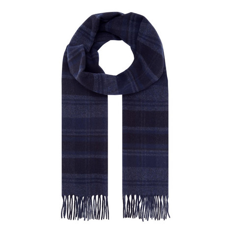 Check Wool Cashmere Mix Scarf, ${color}