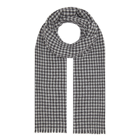 Check Cashmere Mix Scarf, ${color}