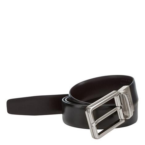 Slim Smooth Leather Belt, ${color}