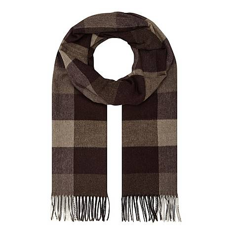 Silk Check Scarf, ${color}