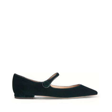 Mary-Jane Velvet Flats, ${color}