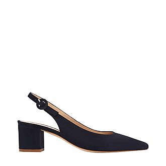 Ada Block Heel Slingbacks