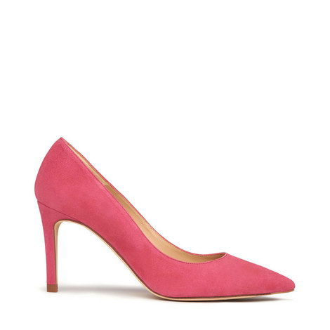 Floret Suede Pointed Toe Courts, ${color}