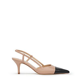 Hally Toe Cap Slingbacks
