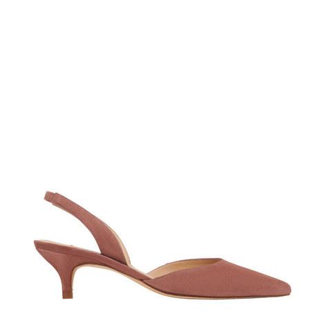 Larissa Kitten Heel Slingback Sandals, ${color}