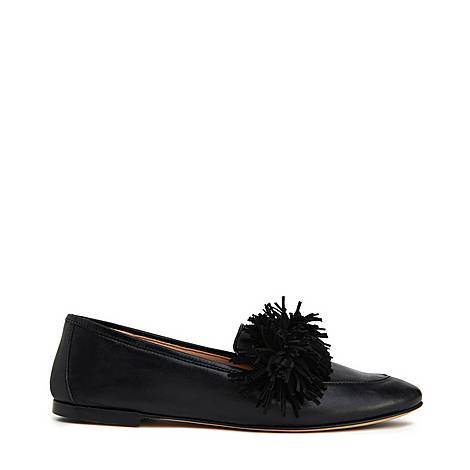 Lera Leather Tassel Loafers, ${color}