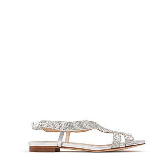 Maya Lurex Flat Sandals