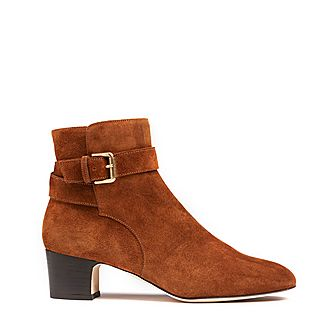 Jerrie Suede Ankle Boots