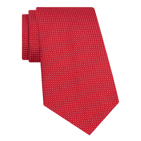 Woven Dot Silk Tie, ${color}