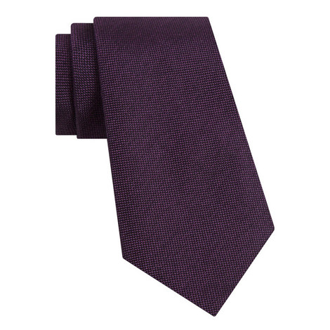 Micro Tile Silk Tie, ${color}