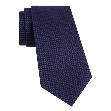 Textured Woven Silk Tie, ${color}