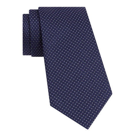 Micro Spot Silk Tie, ${color}