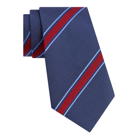 Multi Striped Silk Tie, ${color}