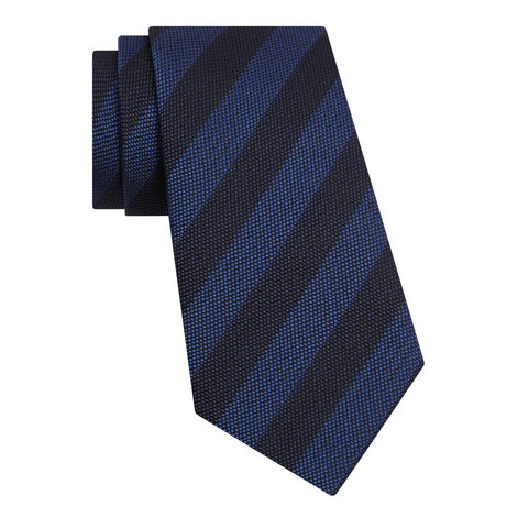 Dot Textured Striped Tie, ${color}