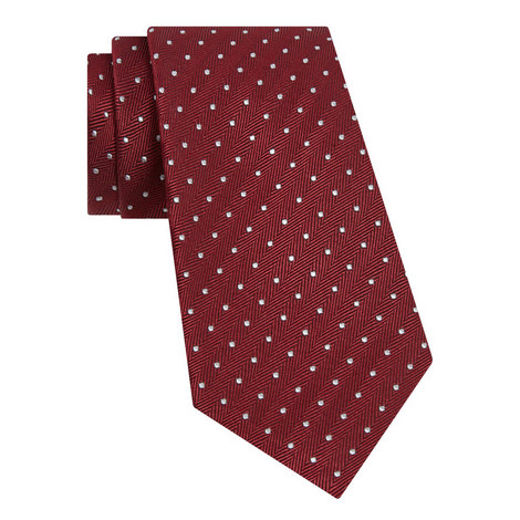 Spotted Herringbone Tie, ${color}