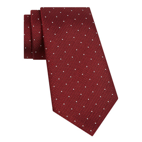 Textured Dot Pattern Tie, ${color}