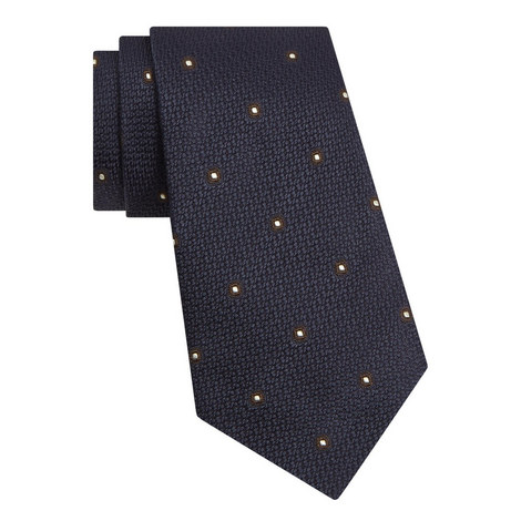 Textured Circle Pattern Tie, ${color}