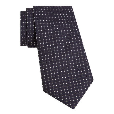 Metallic Grid Patterned Tie, ${color}