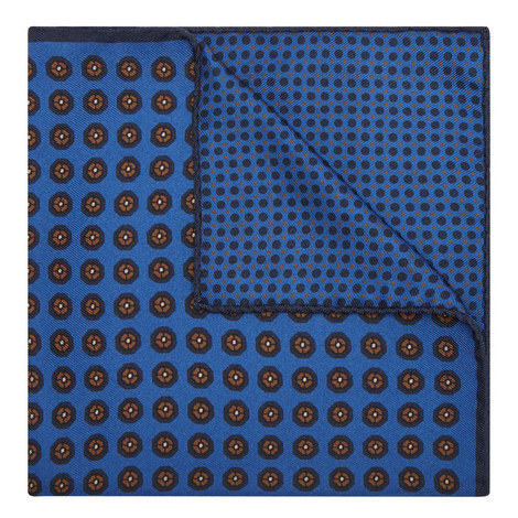 Contemporary Print Pocket Square , ${color}