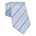Wide Striped Silk Tie, ${color}