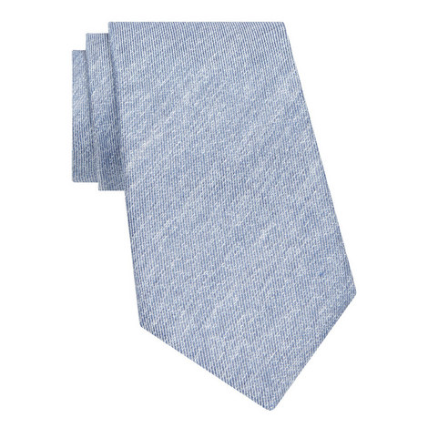 Plain Silk-Linen Tie, ${color}