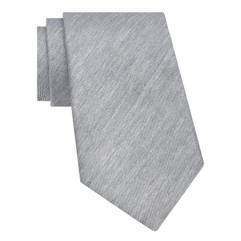 Plain Silk-Linen Tie , ${color}