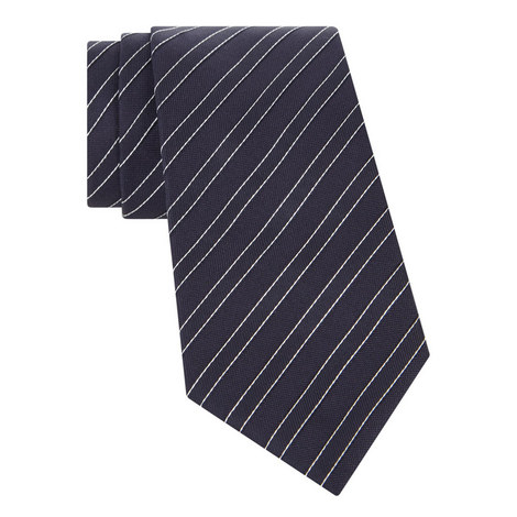 Stripe Pattern Silk Tie, ${color}