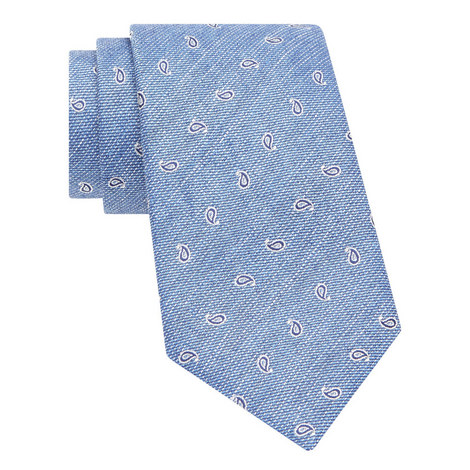 Textured Paisley Pattern Tie, ${color}