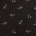 Floral Embroidered Silk Tie, ${color}
