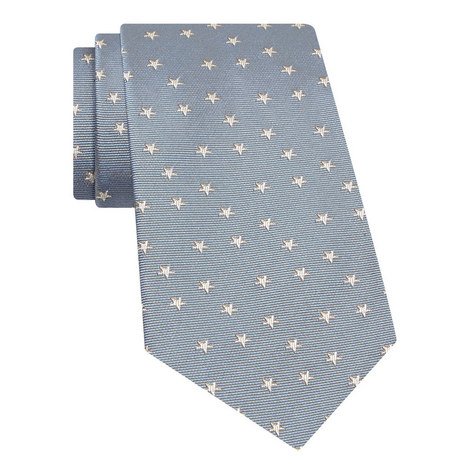 Star Patterned Silk Tie, ${color}