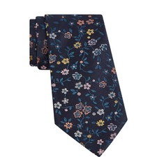 Floral Print Woven Tie