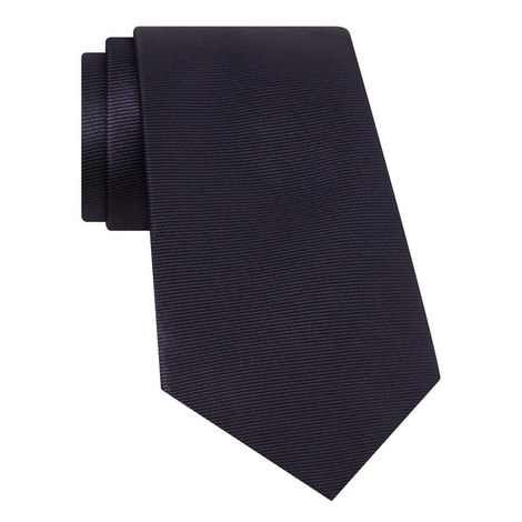 Ribbed Silk Tie, ${color}
