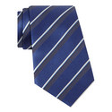Diagonal Stripe Silk Tie, ${color}
