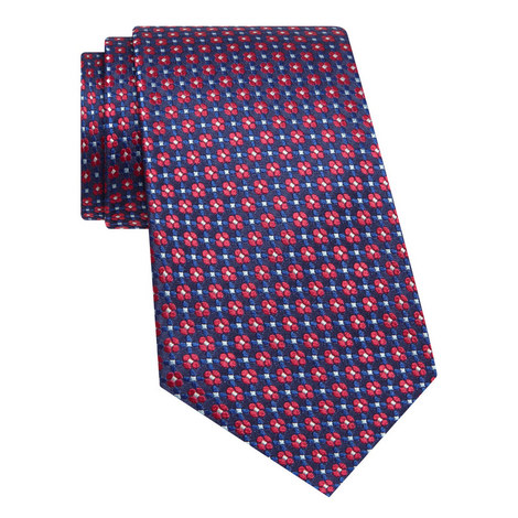 Floral Silk Tie , ${color}
