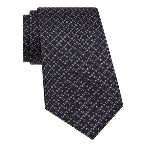 Dot Patterned Silk Tie, ${color}