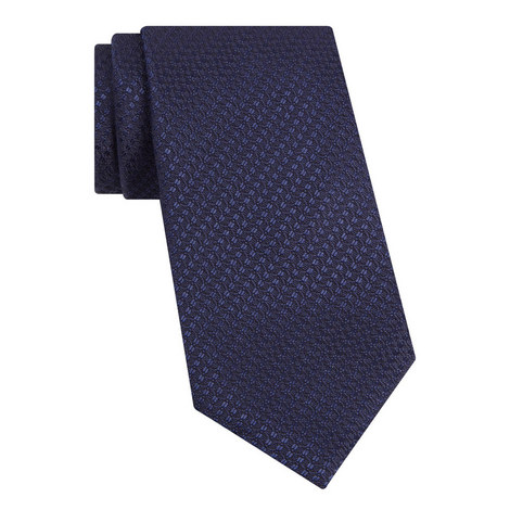 Link Patterned Silk Tie, ${color}