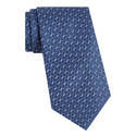 Geometric Patterned Silk Tie, ${color}