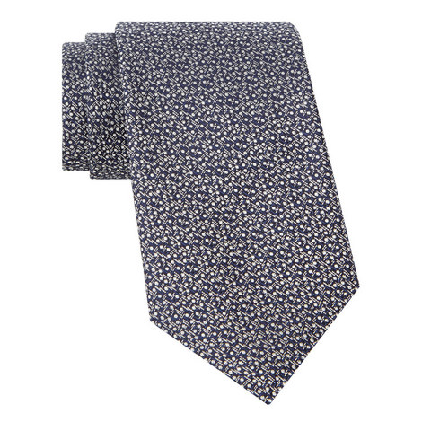 Woven Geometric Pattern Tie, ${color}
