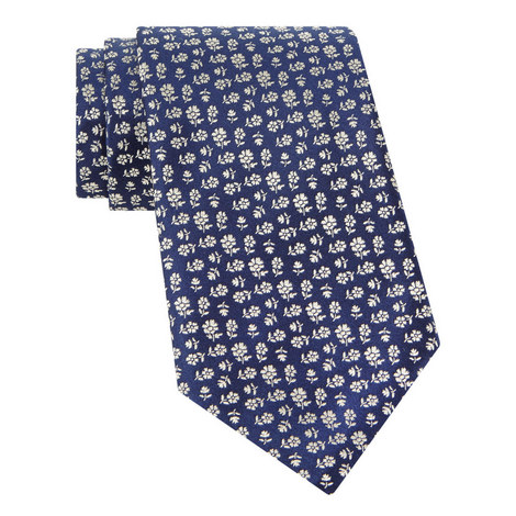 Woven Floral Pattern Tie, ${color}