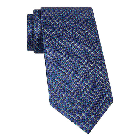 Geomtric Print Silk Tie, ${color}